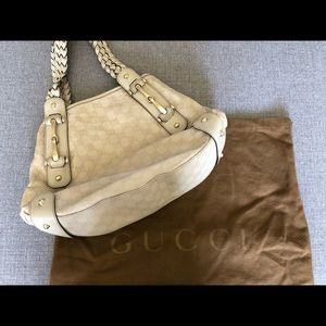 Gucci Mystic White Guccissima Leather Pelham Bag